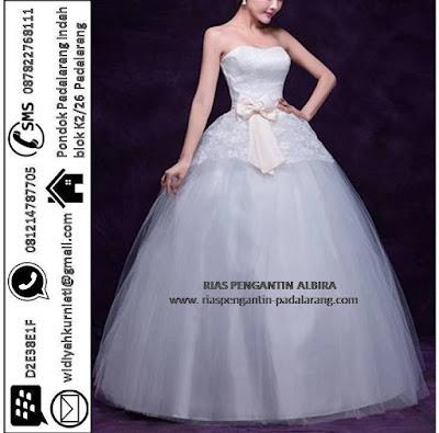 Menyewakan Gaun Pengantin Model Ball Gown Wedding Dresses di Bandung BPE1003