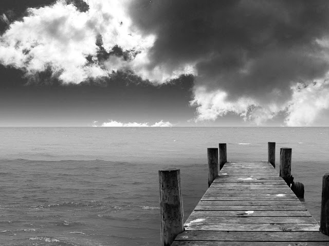 Black and white beach landscape hd wallpapers pack