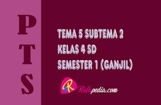 Soal PTS Tematik Tema 5 Subtema 2 Kelas 4 SD Semester 1 Lengkap Kunci Jawaban