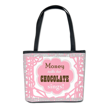 Chocolate Sings Text Bucket Bag