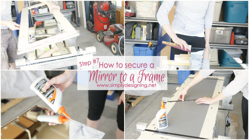 How to Secure a Mirror to a DIY Wood Frame | this is sooooooo cool!!  | #diy #jewelry #organization #homeimprovement #homedecor #spon