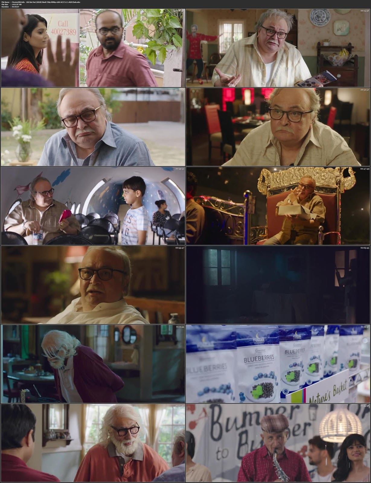102 Not Out 2018 Hindi Full Movie HDRip 720p ESubs