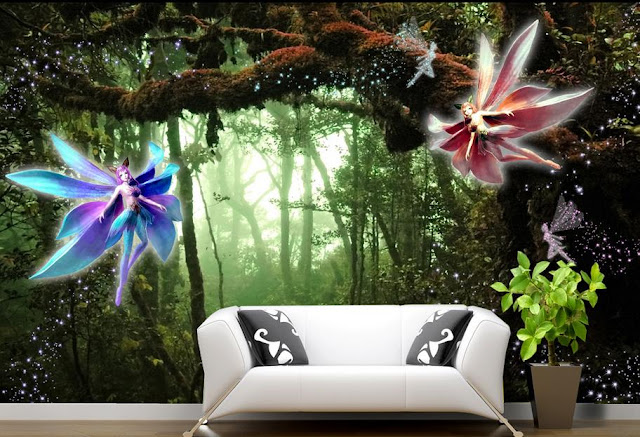 Fairy Murals Wallpaper Kids Children Girl Room