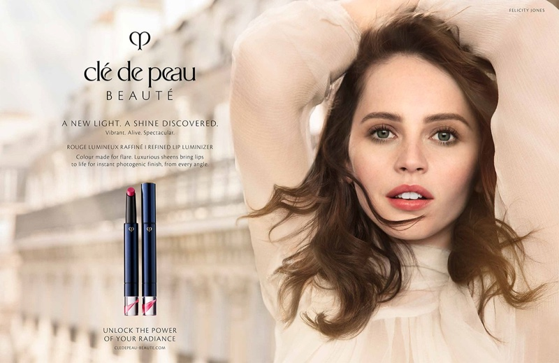 Cle de Peau Beaute Spring/Summer 2019 Campaign featuring Felicity Jones