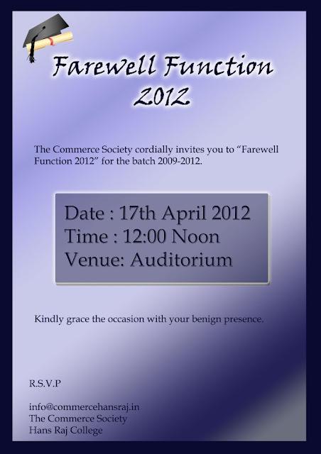 fare well invitation template