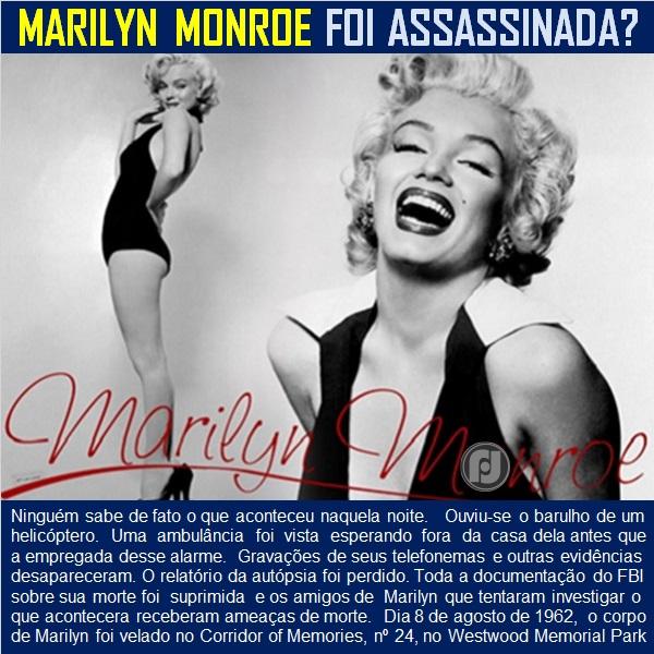 Marilyn Monroe: os mistérios da sua morte