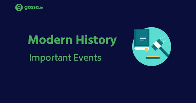 Modern History Events PDF