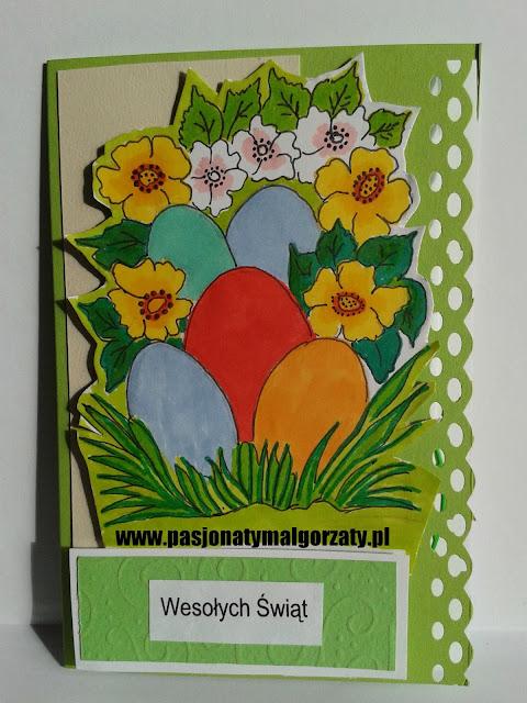 Jajka pisanki kwiatki kartki ręcznie robione