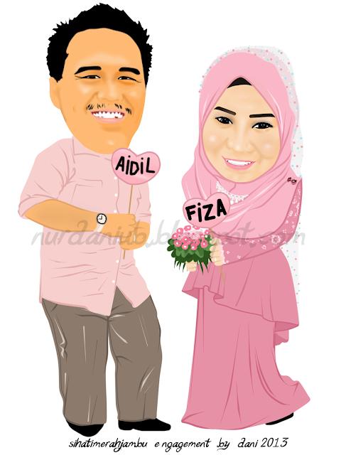 doodle pertunangan sihatimerahjambu