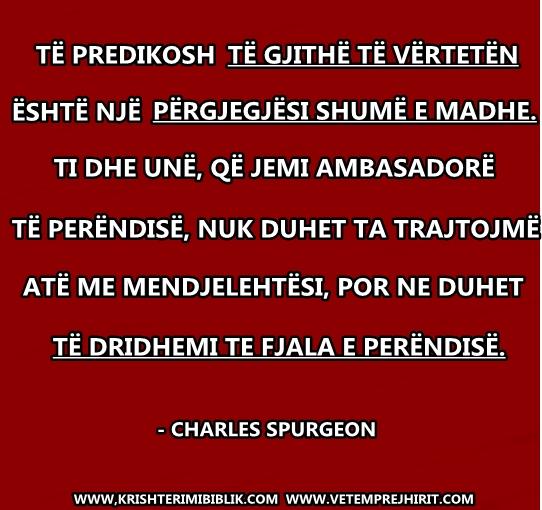 Fjala e Perendise, spurgeon shqip, sperxhen,