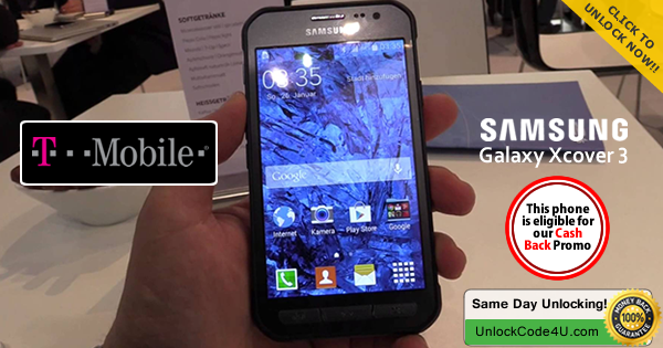 Factory Unlock Code for Samsung Galaxy Xcover 3 from T-Mobile