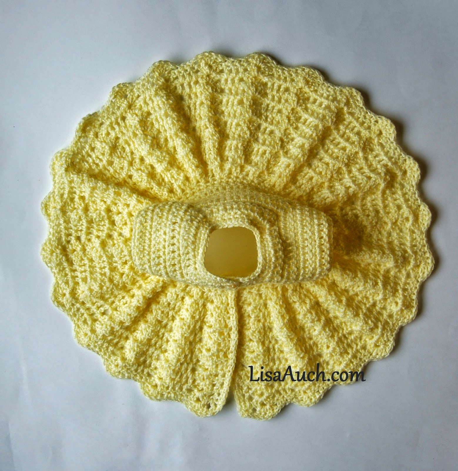 Free Crochet Pattern for a Vintage modern Style Baby Cardigan