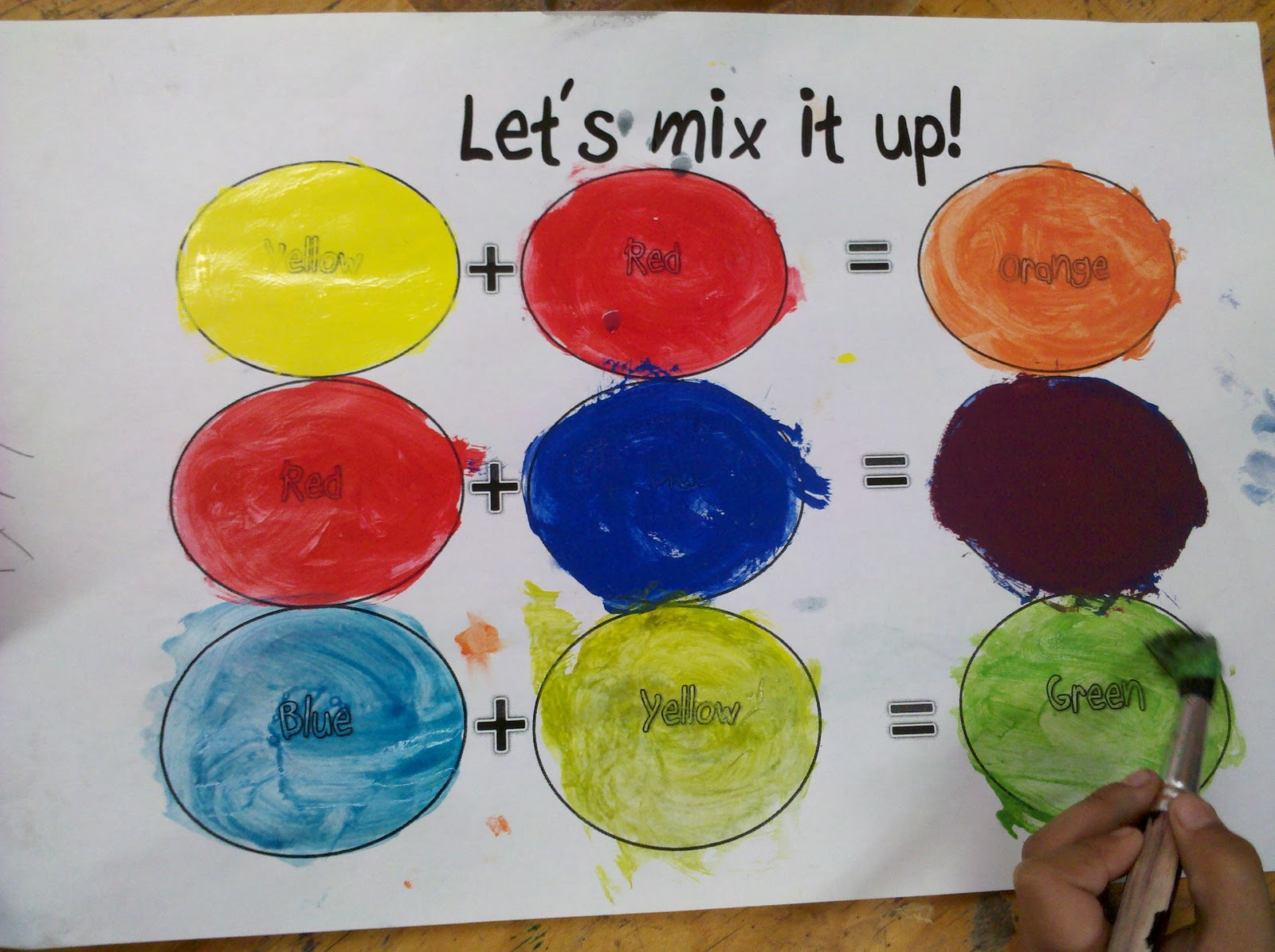 Familiar With The Terms Primary Colors Secondary Tints And Shades See If Your Child Can Give You Definition To Each