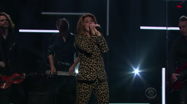 Shania Twain Performs 'Swingin' With My Eyes Closed' On Late Late Show