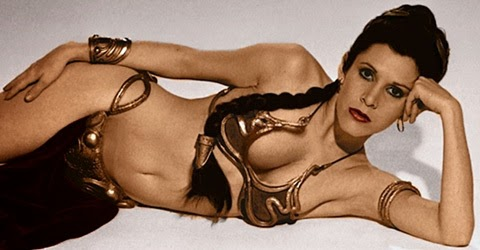 carrie fisher jedi bra costume