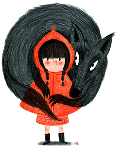 Red Riding Hood Illustration by Melanie Allag on Moufle