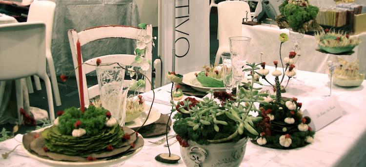 allestimento della tavola di Natale per Abilmente Roma 2014