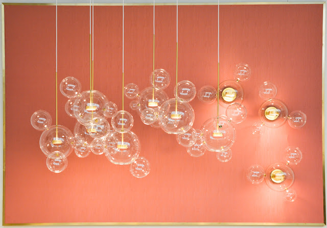 Bolle Glass Pendants by Giapato & Combes at Decorex during London Design Festival 2016 #LDF16
