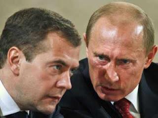 Vladimir Putin and Medvedev