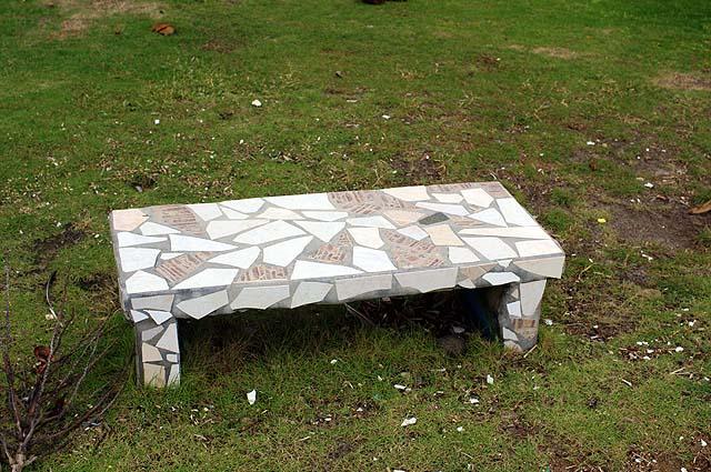 House Building Ideas Concrete Garden Bench