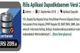 Rilis Aplikasi Dapodikdasmen Versi 2019.a-dapo.dikdasmen.kemdikbud.go.id