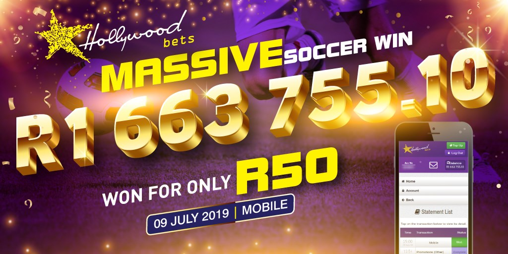 Massive Soccer win R1.6 Million at Hollywoodbets
