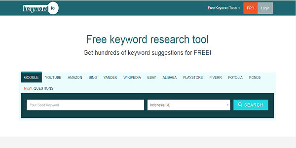 Situs Keyword.io