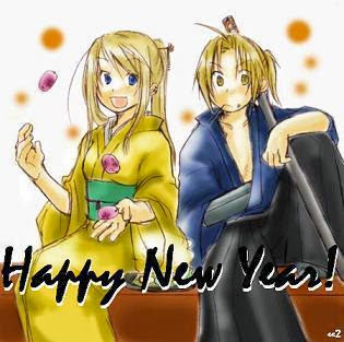 anime couple happy new year