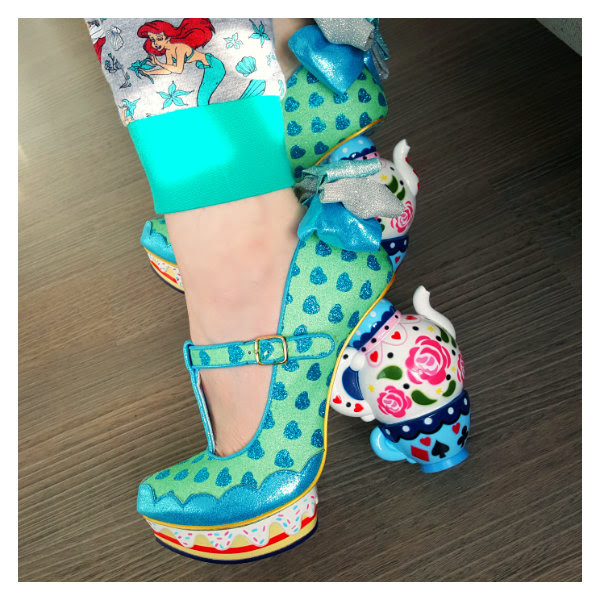wearing irregular choice my cup of tea shoes