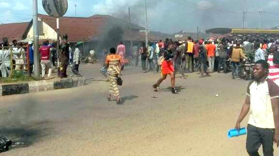 Protest turn ugly in Ondo as NSCDC Officers killed man and his sister, check reason (Graphic Photos)