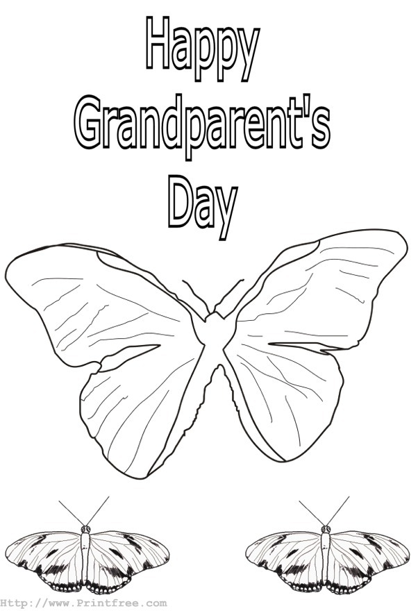 Grandparents Day Printable Coloring Pages : Let's Celebrate!