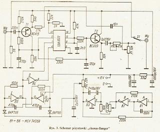 Schemat przystawki chorus flanger