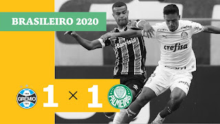 Gols de Grêmio 1 x 1 Palmeiras – Coritiba 1 x 0 Vasco