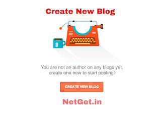 Create new blog pop up