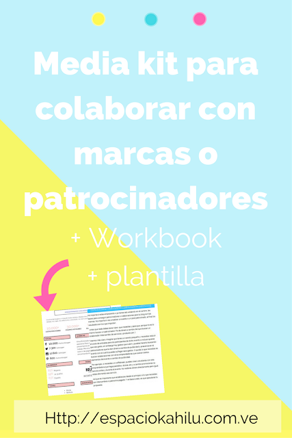 plantilla de media kit para blogger