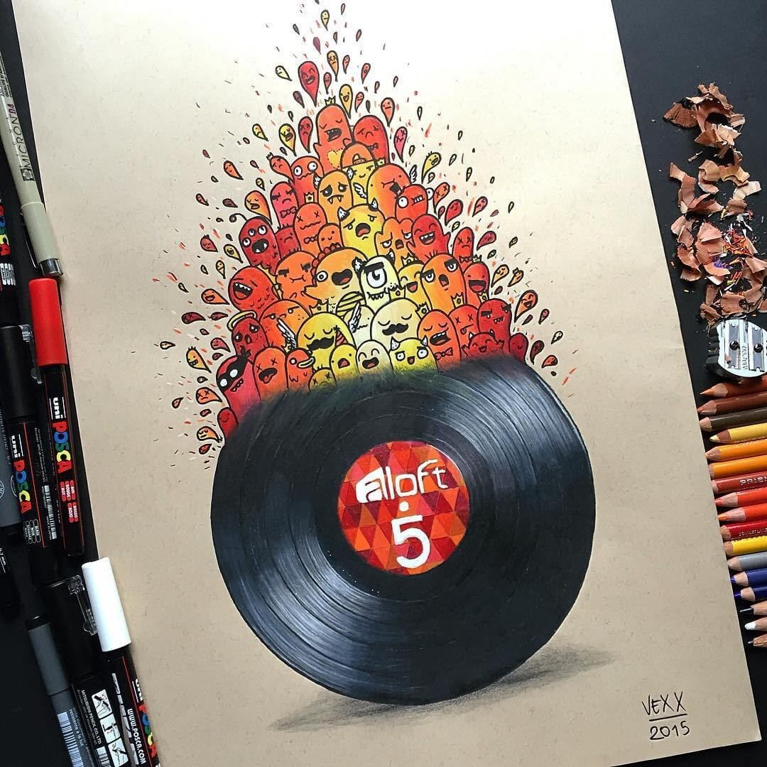 11-LP-vinyl-record-Vince-Okerman-aka-Vexx-11-Doodle-Drawings-and-1-Painting-www-designstack-co