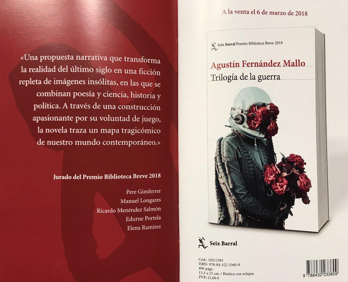 02e0cb966bf Agustín Fernandez Mallo - Trilogia De La Guerra   (Seix Barral).