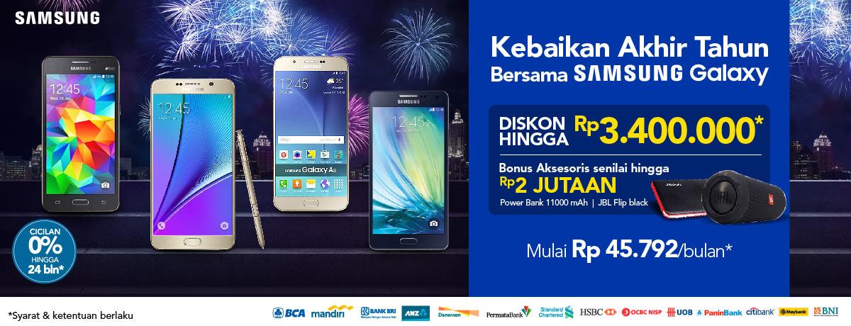 Promosi Kebaikan Akhir Tahun Bersama Samsung Galaxy Di BliBli