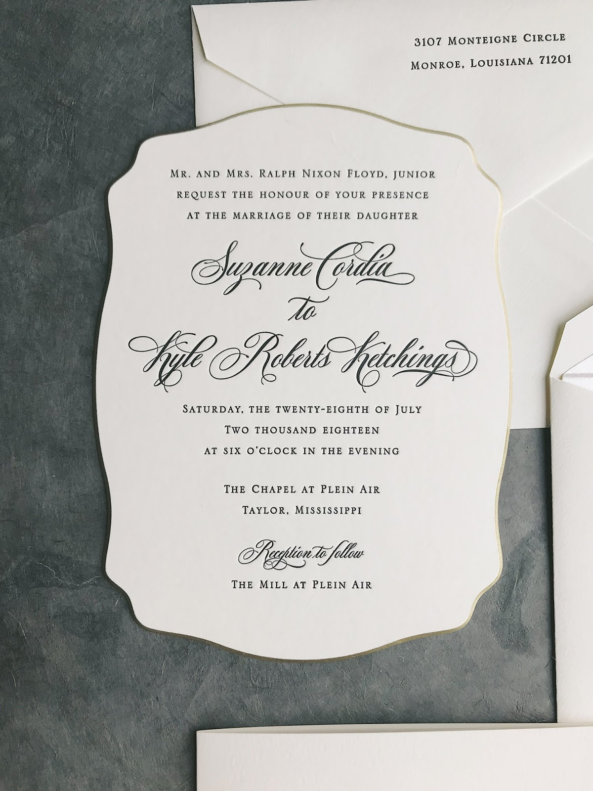 Wedding Invitations for Suzanne and Kyle | Fresh Ink : Style ...