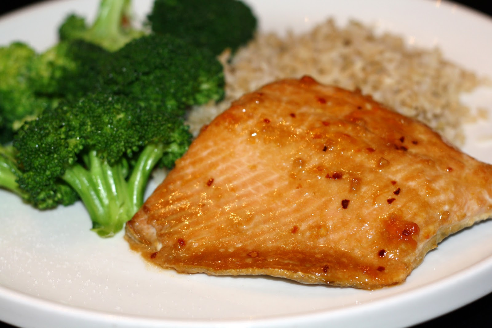 what's for dinner?: glazed salmon with brown rice and ...