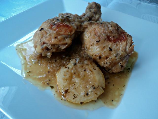 Pollo al orégano y limón receta casera