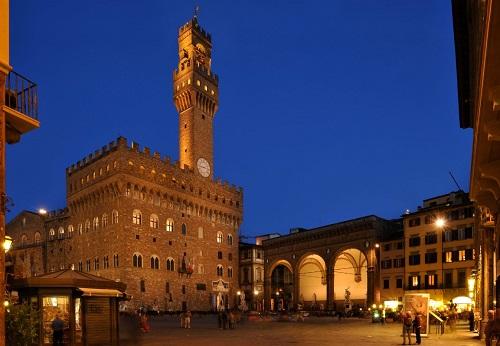 Piazza della Signoria em Florença na Itália