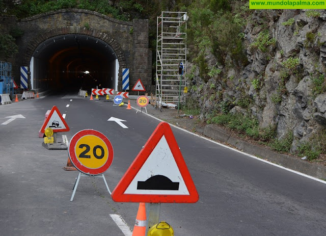 El túnel viejo tendrá un solo carril y el Cabildo mejorará la carretera de la Cumbre hacia el Valle de Aridane