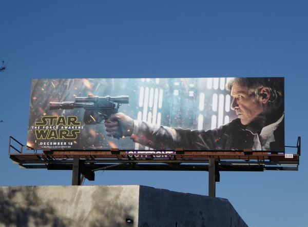 Star Wars The Force Awakens Han Solo billboard