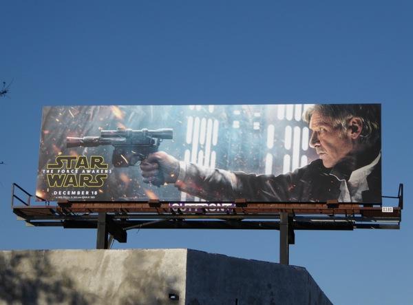 Star Wars The Force Awakens Han Solo billboard