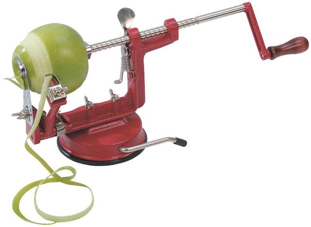 Aparatas lupti ir pjaustyti obuolius - pele pomme