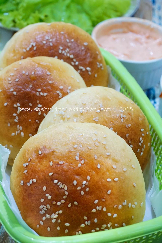 Cara Membuat Roti Burger : membuat, burger, Homemade, Perfect, Burger, Blogger:, Resep, Review, Sashy, Little, Kitchen