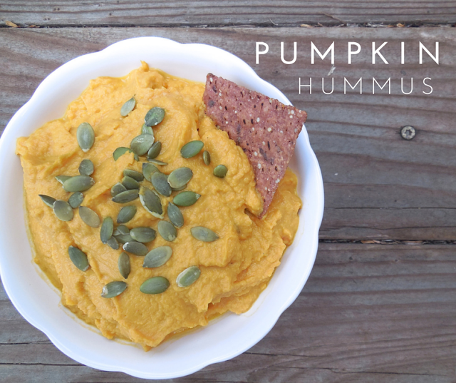 Pumpkin Hummus: a perfect appetizer or side dish for your Thanksgiving gathering