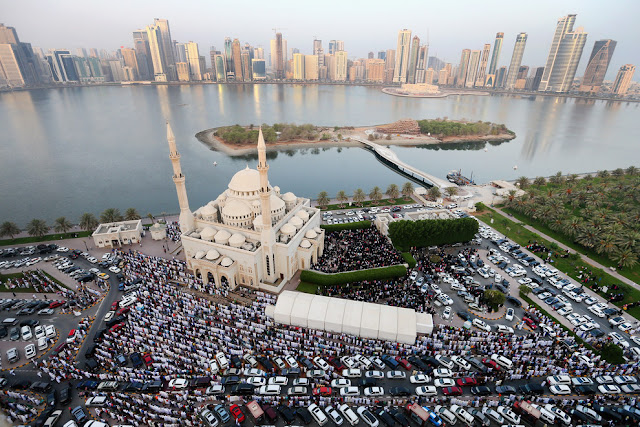 Sharjah, United Arab Emirates Eid Al Adha prayers on 12th september 2016