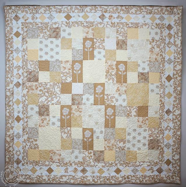 beige quilt